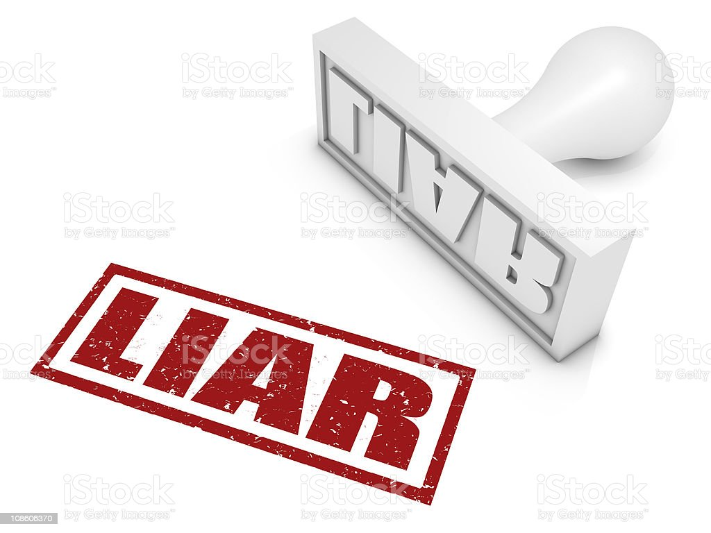 Liar! stock photo