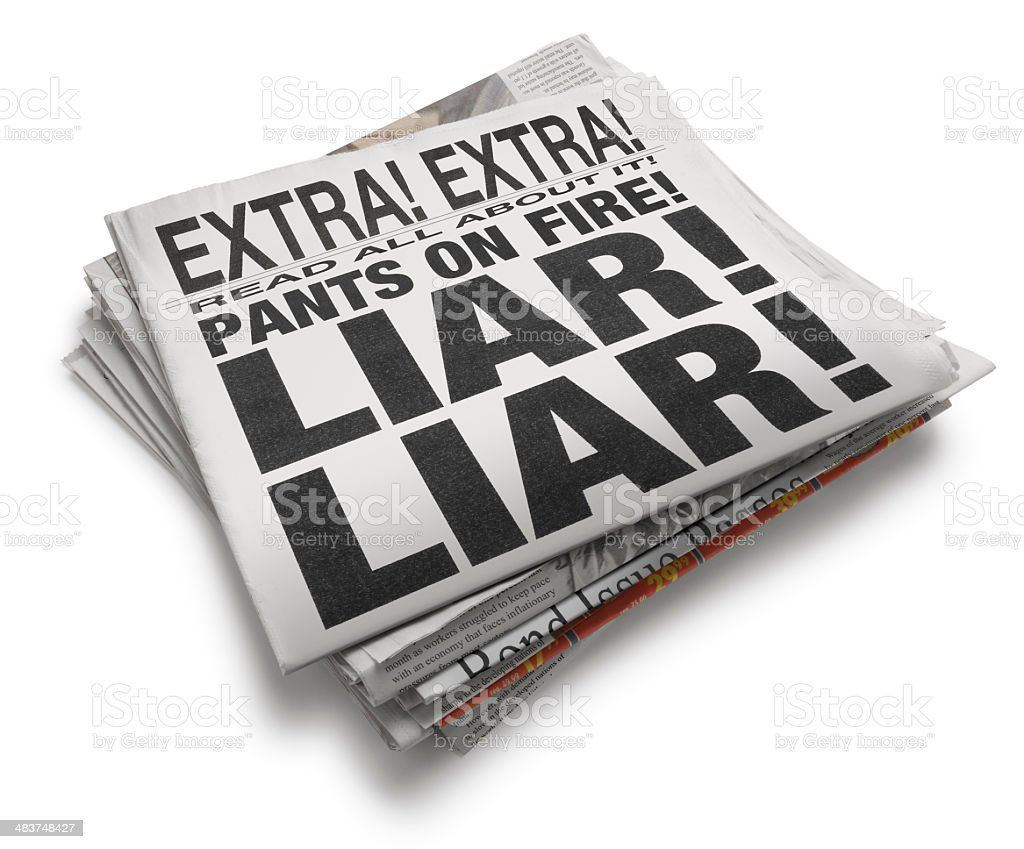 Liar stock photo