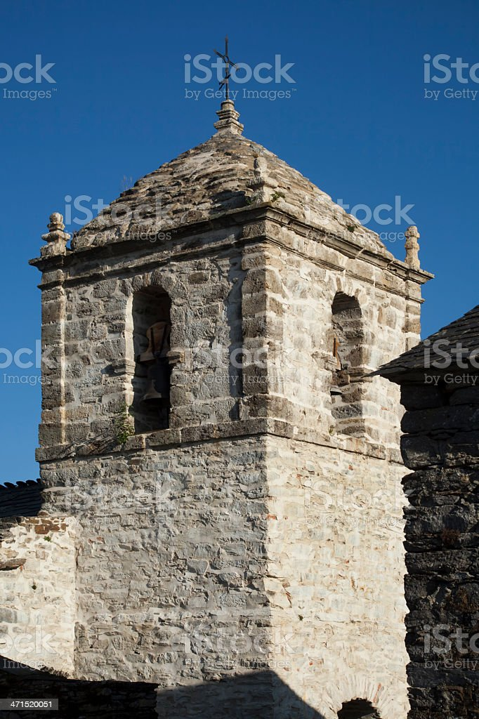 Liñares church belfry royalty-free stock photo