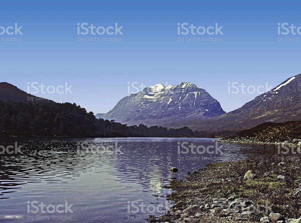 Liathach and Loch Clair Torridon Wester Ross stock photo
