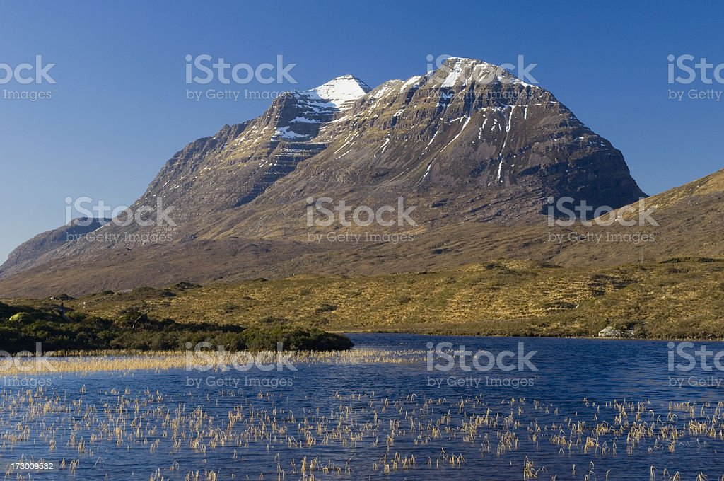 Liathach from Loch Clair stock photo