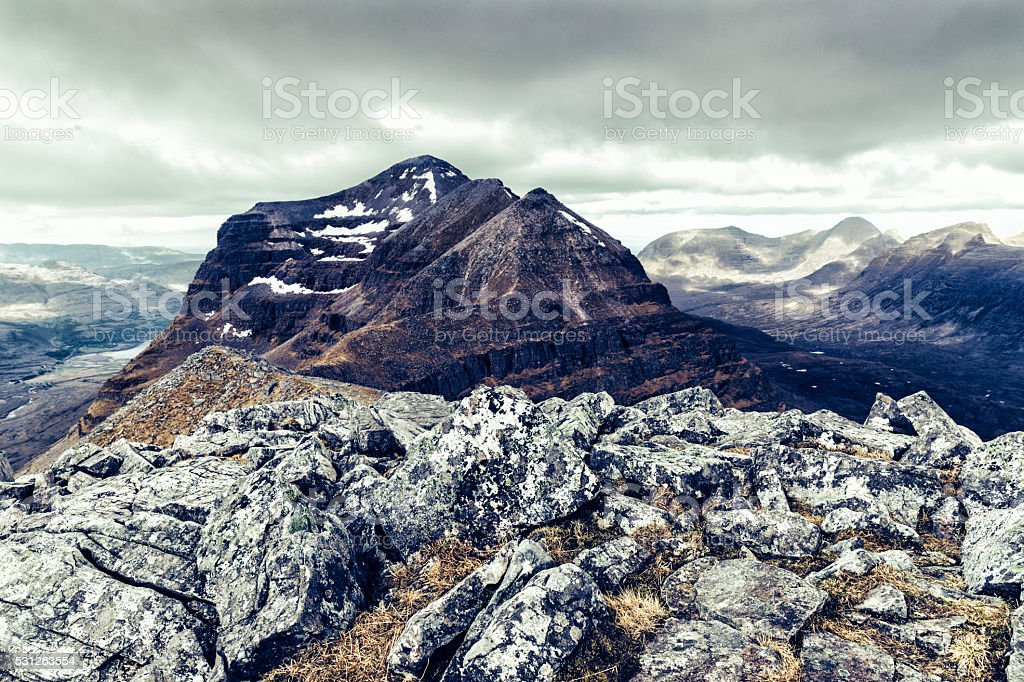 Liathach mountain, Torridon, Scotland stock photo