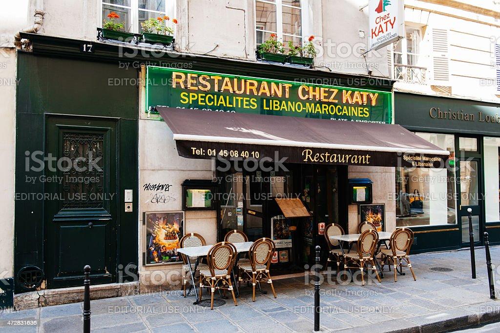 Liban Moroccan cusine restaurant in the heart of Paris stock photo