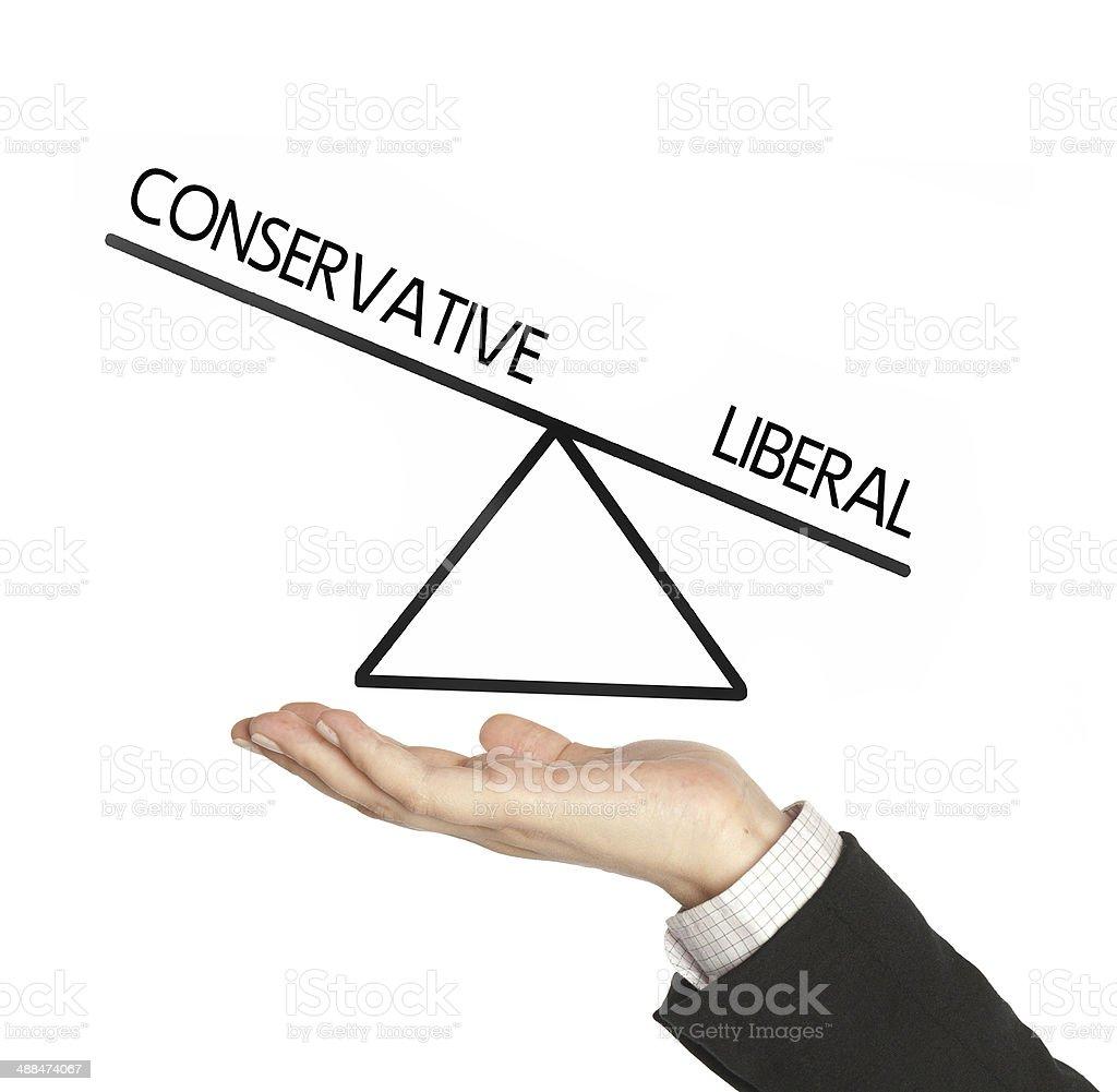 liberal versus conservative stock photo