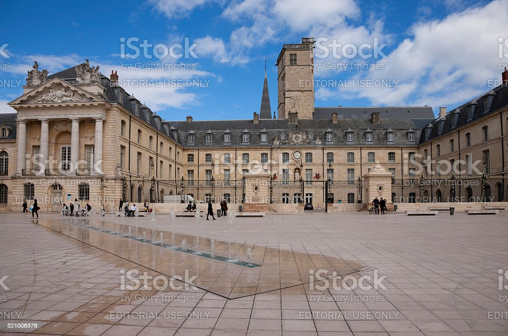 Libération square in Dijon, France stock photo