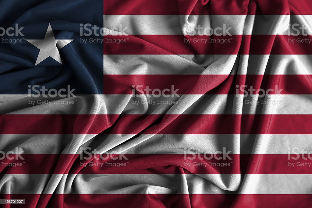 Liberia Flag stock photo