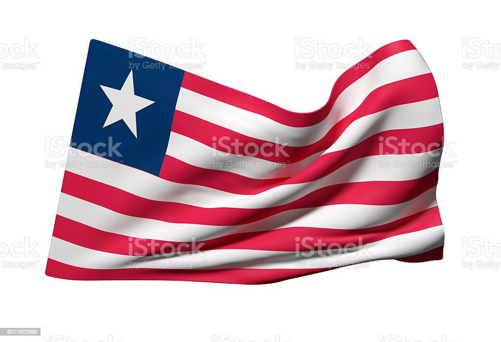 Liberia flag waving stock photo