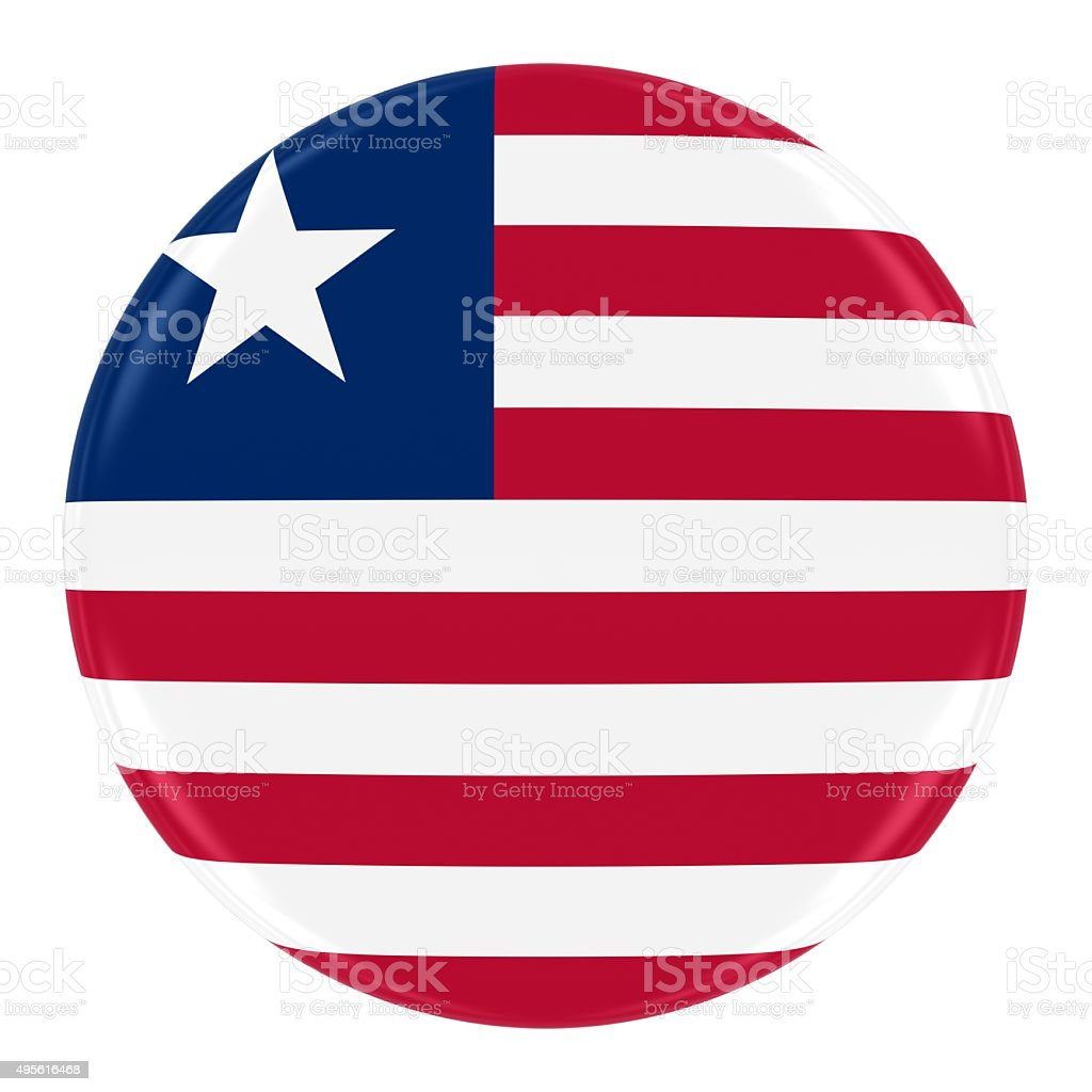 Liberian Flag Badge stock photo