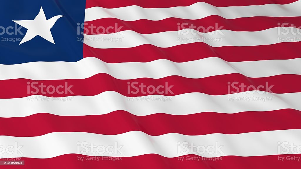 Liberian Flag HD Background - Flag of Liberia 3D Illustration stock photo