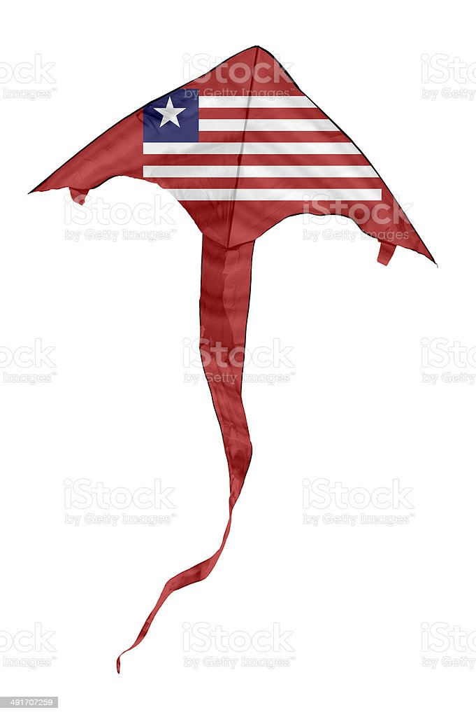Liberian Flag Kite stock photo