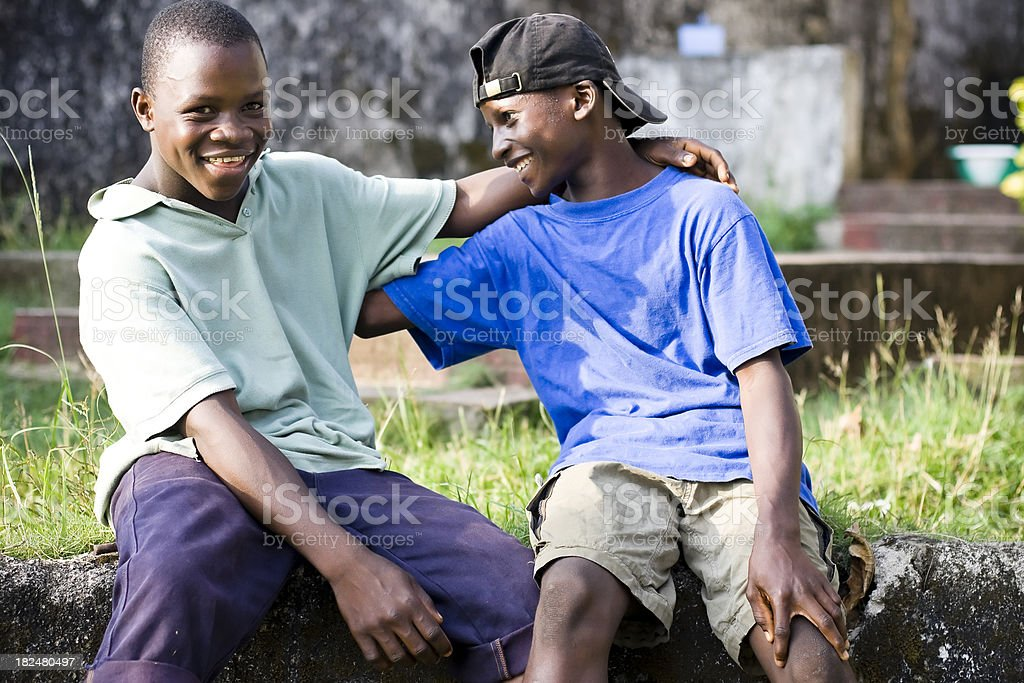Liberian Teens royalty-free stock photo