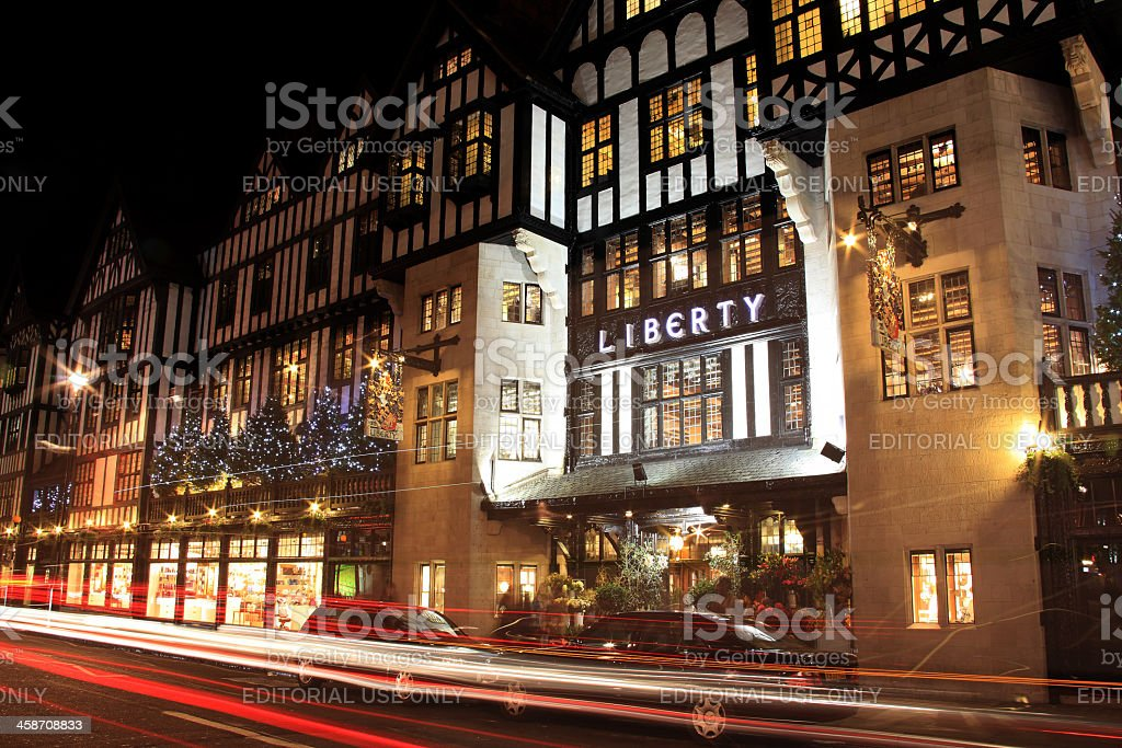 Liberty At Christmas stock photo