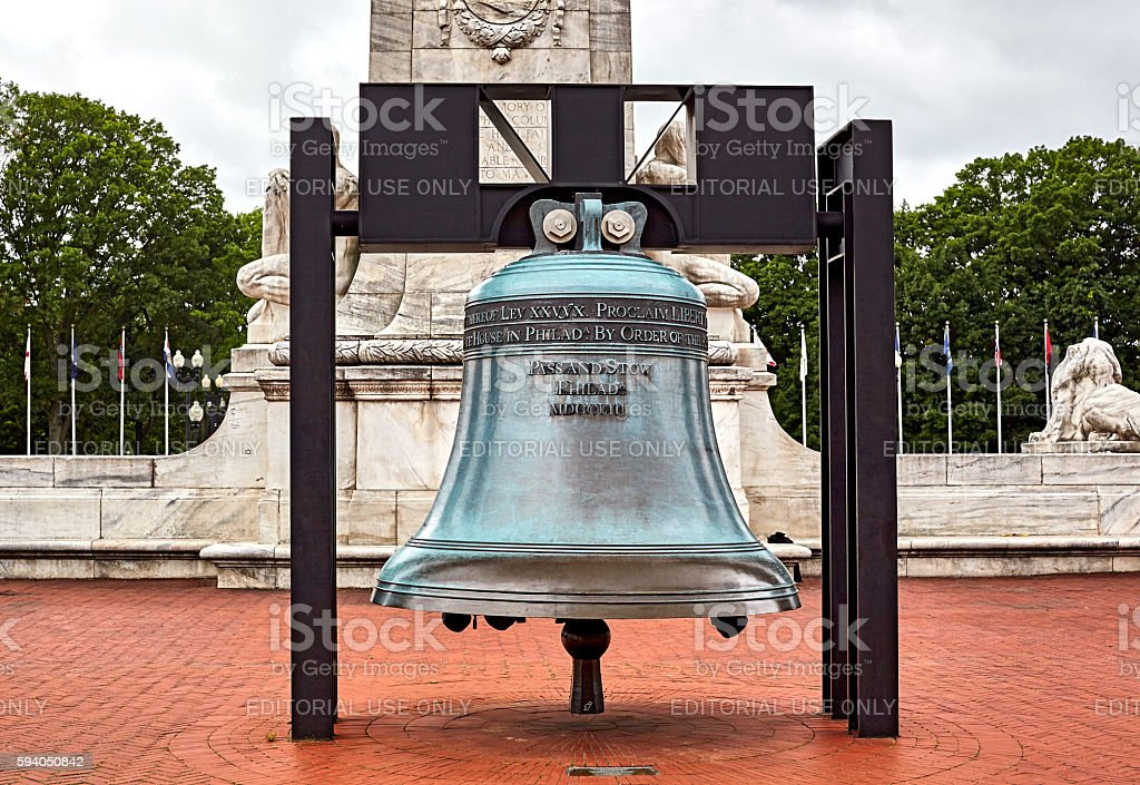 Liberty Bell at Columbus Circle Washington DC stock photo