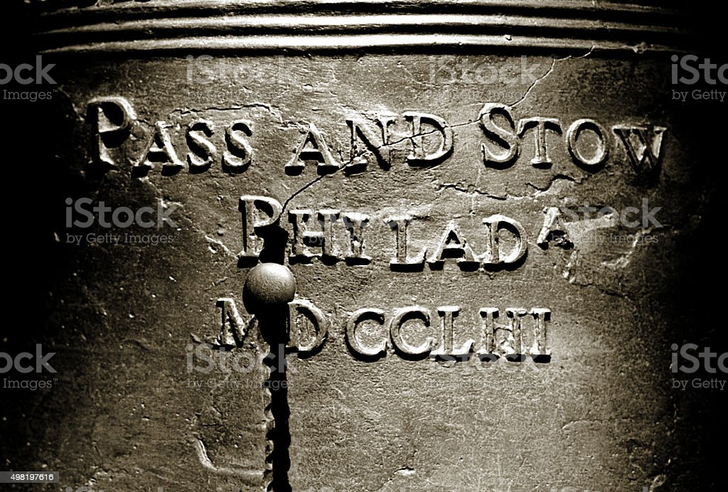Liberty Bell - Black and White stock photo