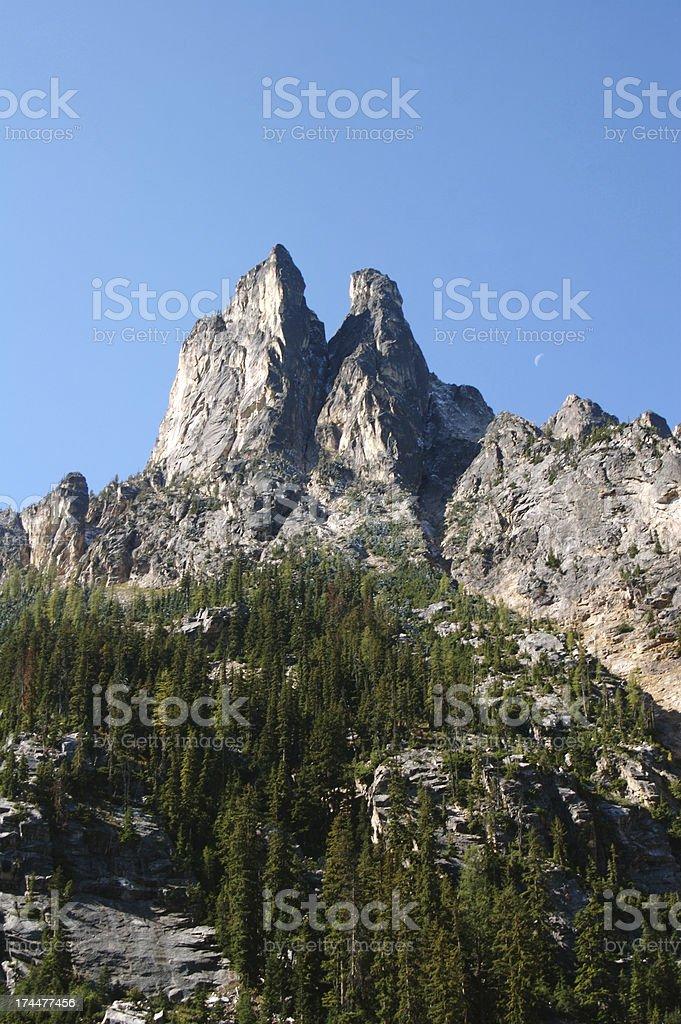 Liberty Bell Mountain Near North Cascades National Park royalty-free stock photo