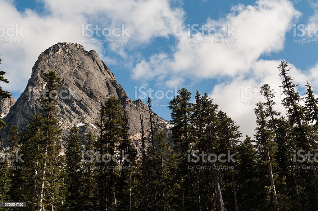 Liberty Bell mountain peak stock photo