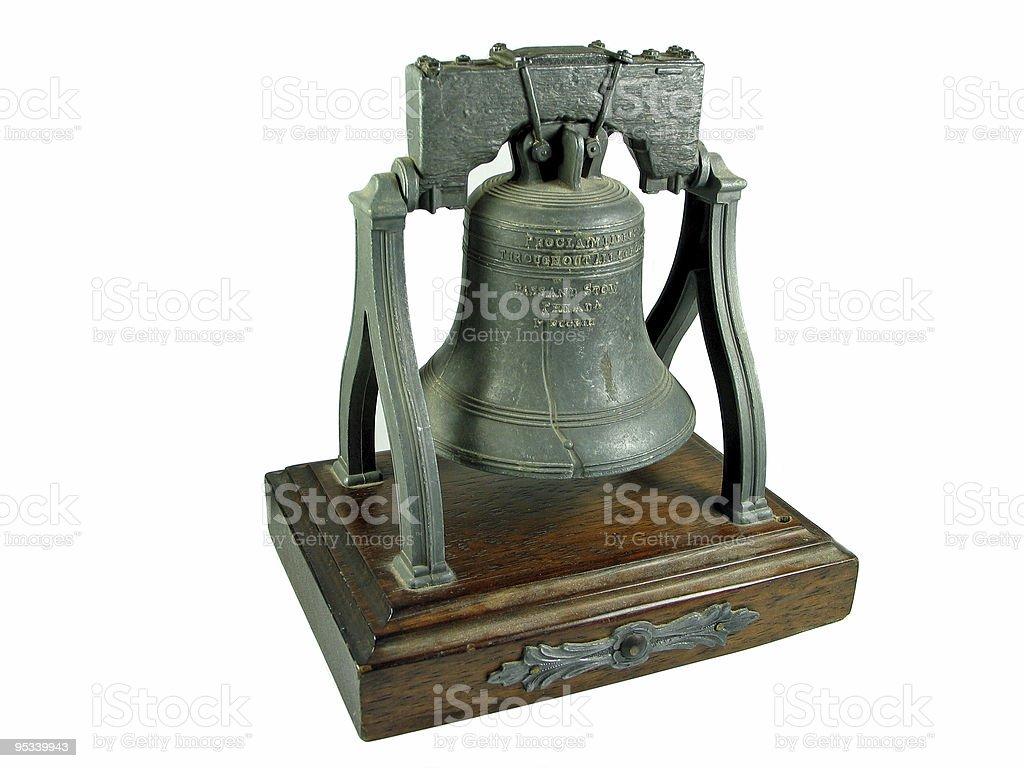 Liberty bell Philadelphia replica isolated on white royalty-free stock photo