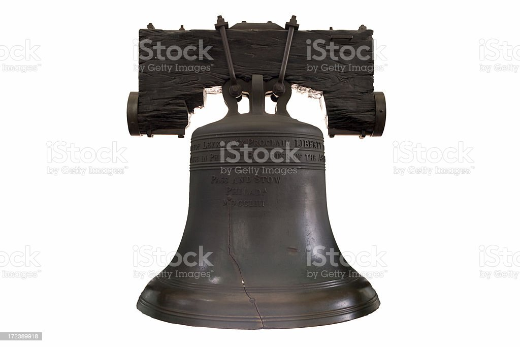 Liberty Bell with Clipping Path stock photo