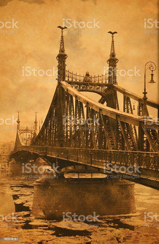 Liberty Bridge (Szabadsághíd) Budapest, Hungary royalty-free stock photo