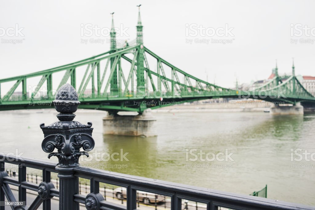 Liberty Bridge, Chain Bridge - Budapest royalty-free stock photo
