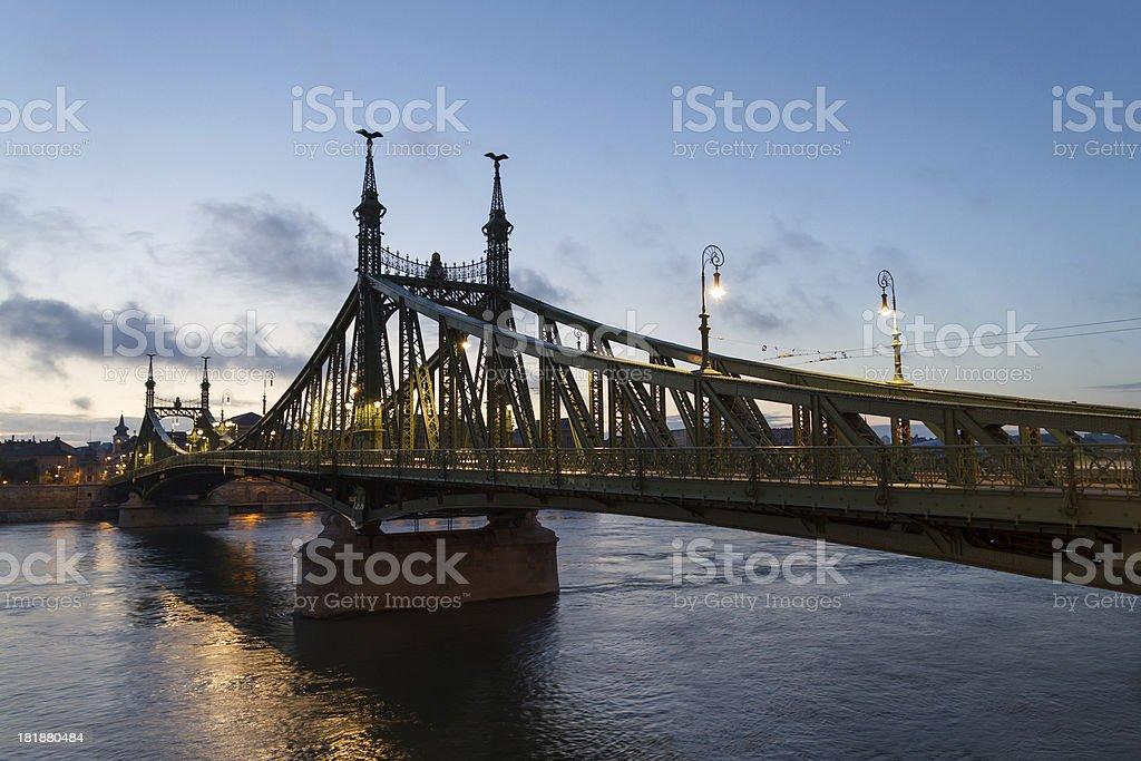 Liberty Bridge in Budapest, Hungary royalty-free stock photo