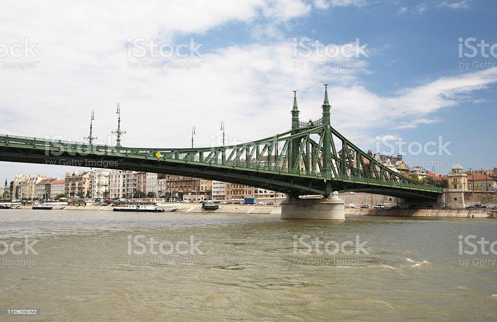 Liberty Bridge in Budapest royalty-free stock photo