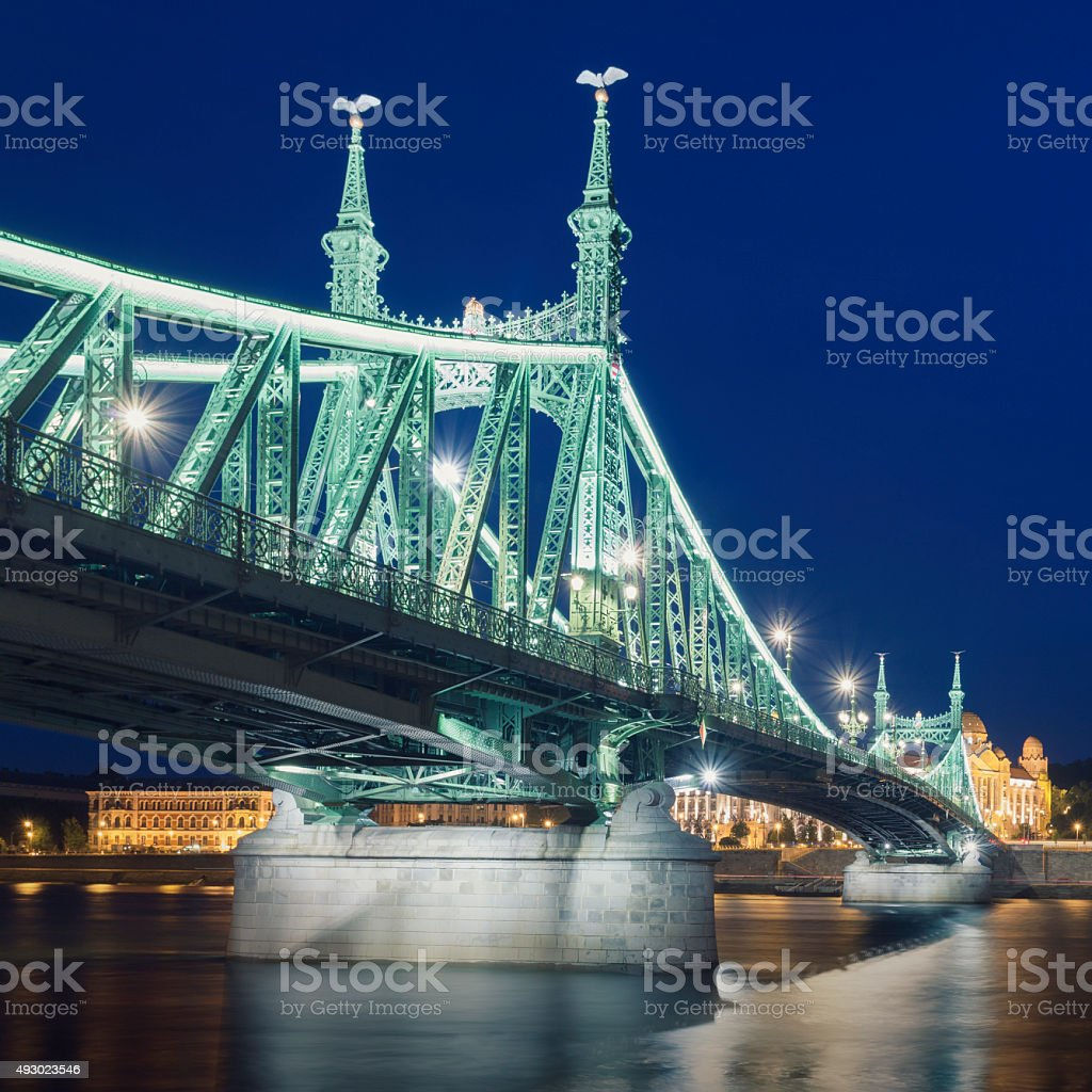 Liberty Bridge in Budapest stock photo