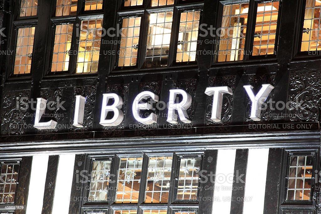 Liberty Department Store stock photo
