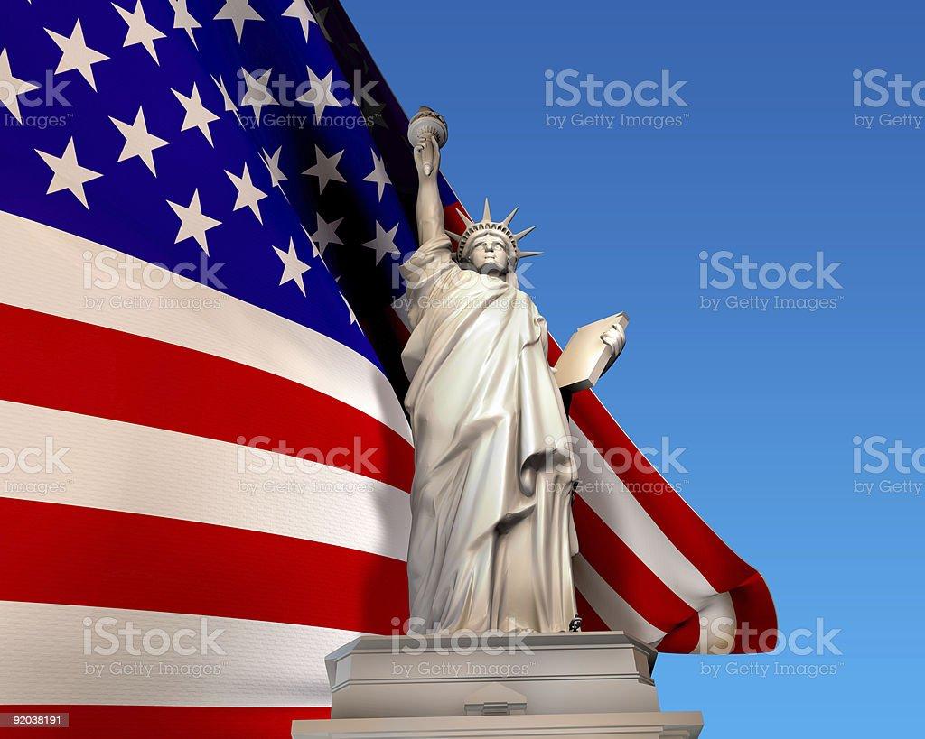 Liberty Flag royalty-free stock photo
