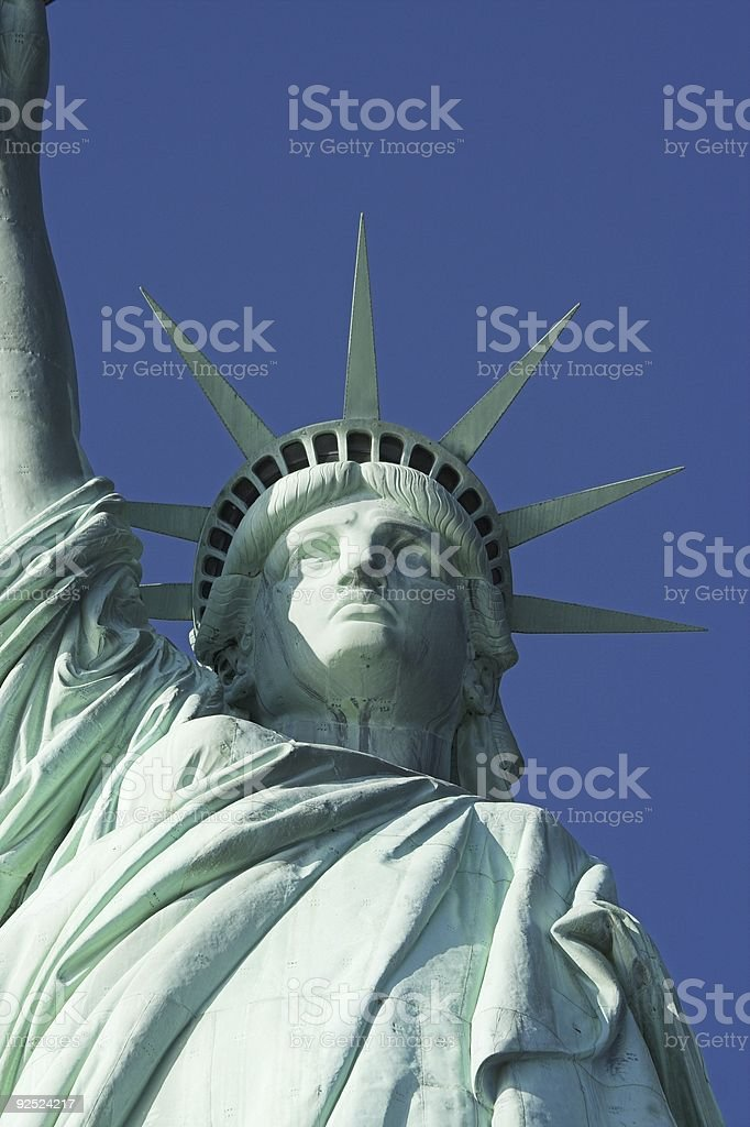 Liberty front with part of arm royalty-free stock photo