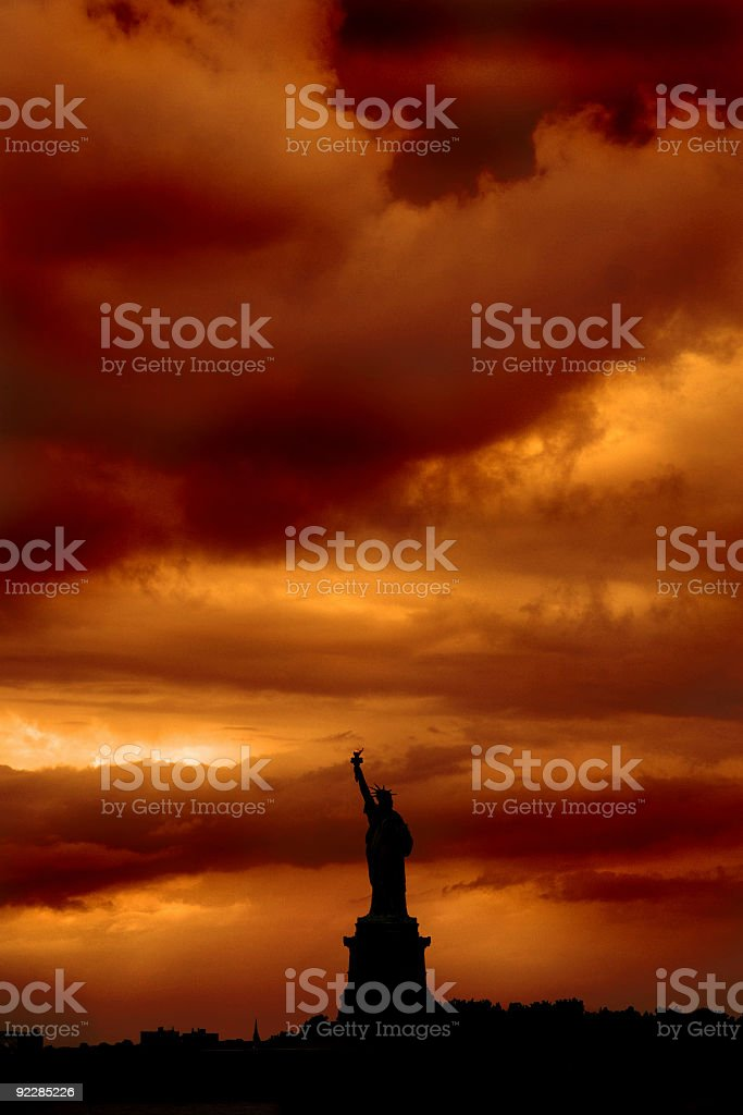 Liberty in darkness royalty-free stock photo