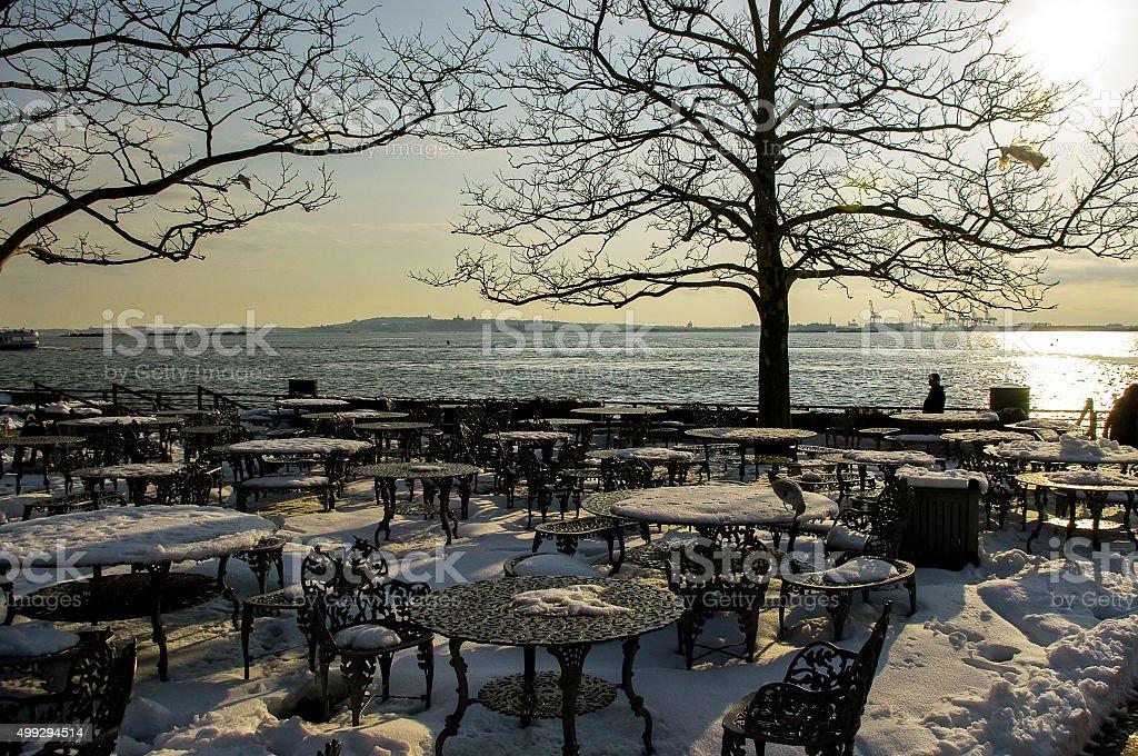Liberty Island stock photo