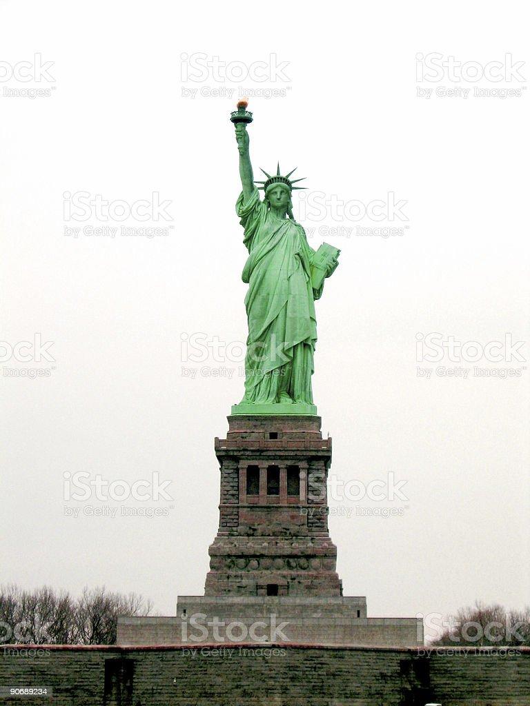 Liberty Island royalty-free stock photo