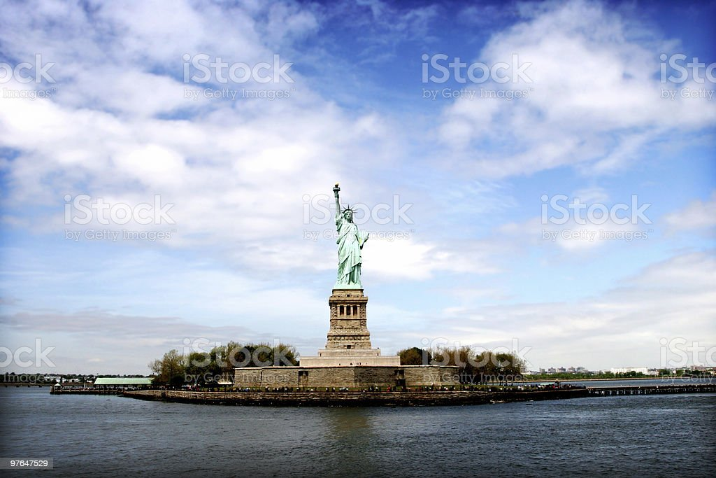 liberty island royalty-free stock photo