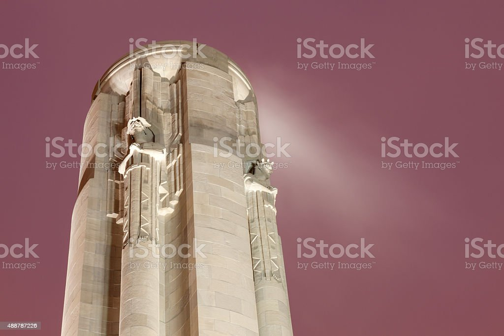 Liberty Memorial in Kansas City stock photo