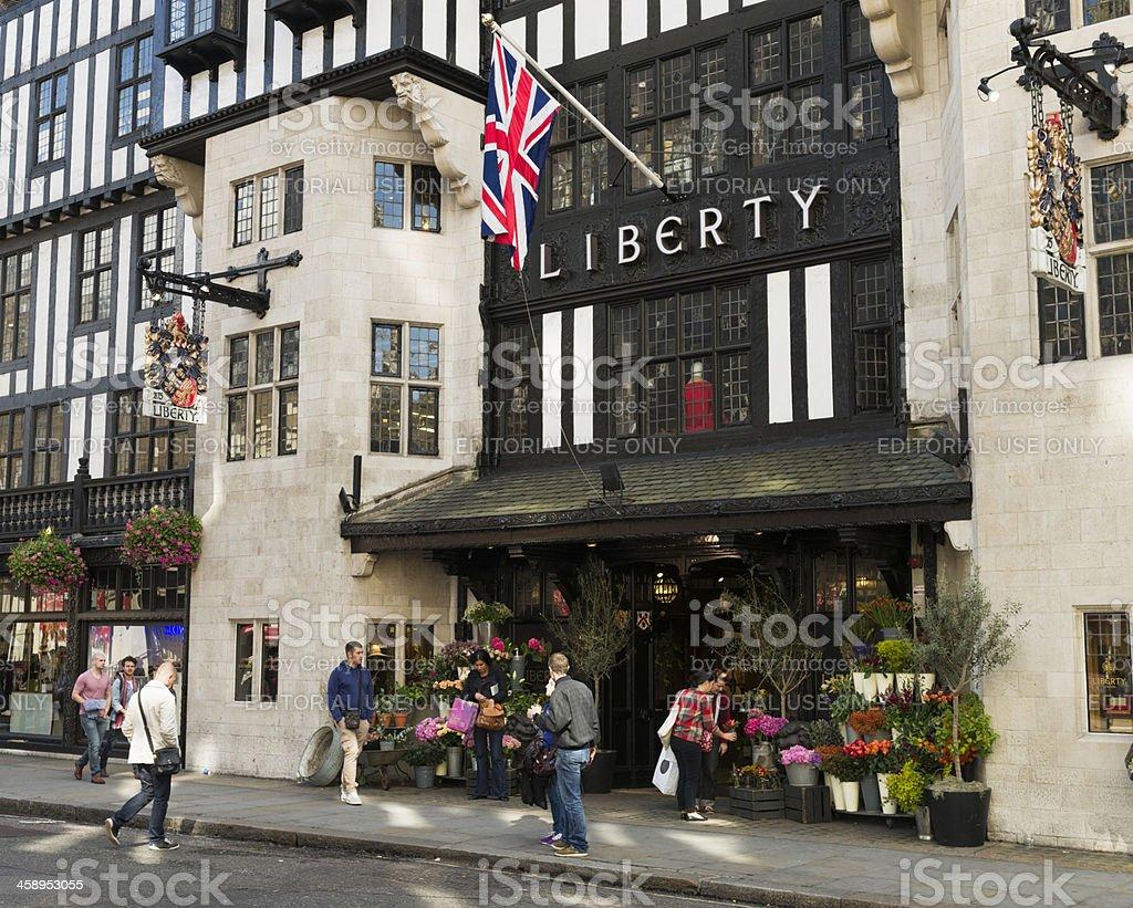 Liberty of London Department Store stock photo