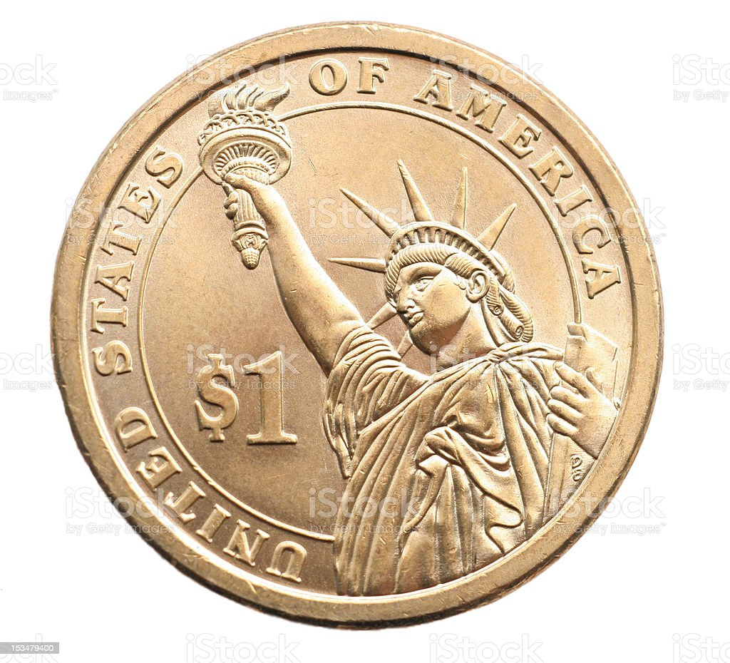 Liberty One Dollar Coin stock photo