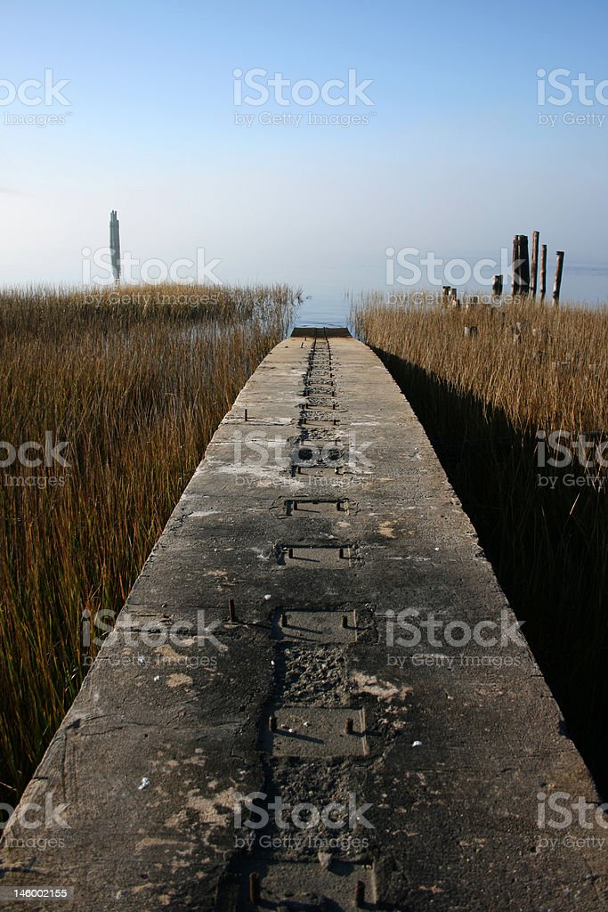 Liberty Ship Rail stock photo