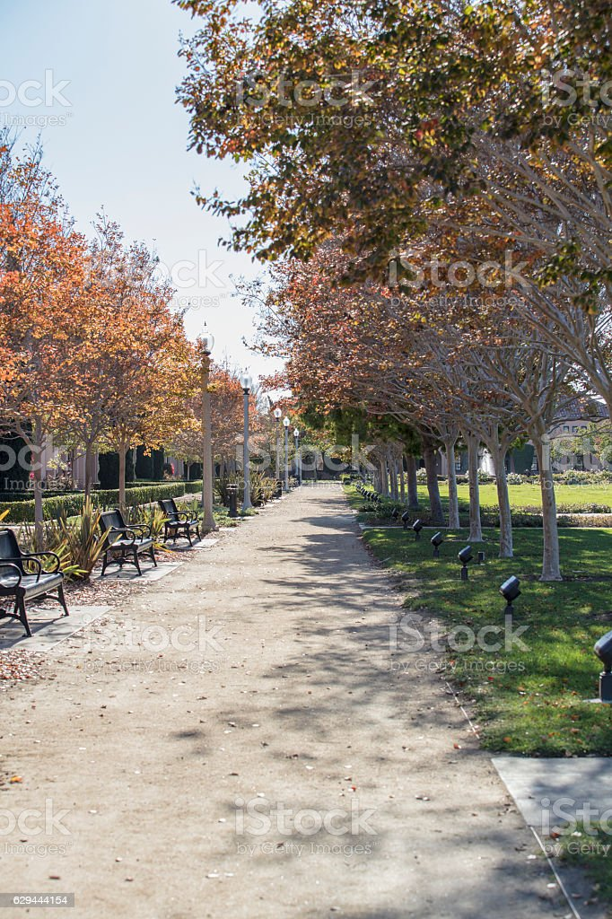 Liberty Station Market Place in San Diego, California Fountain stock photo