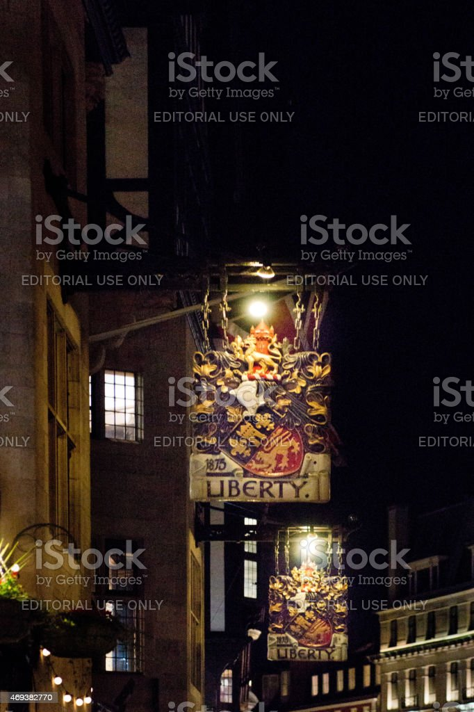 Liberty store in London stock photo