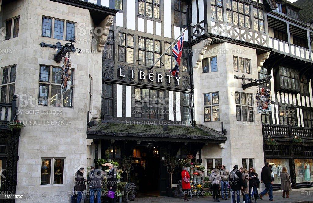 Liberty Store London stock photo
