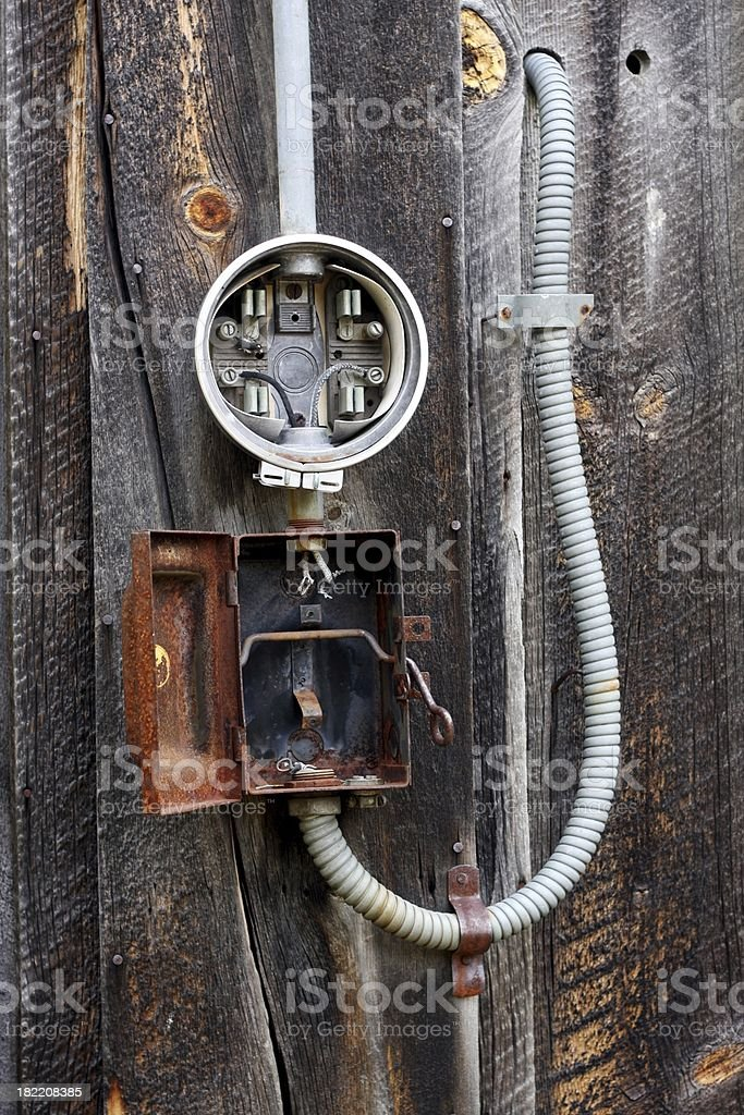 Liberty Washington Shack Electrical Service royalty-free stock photo