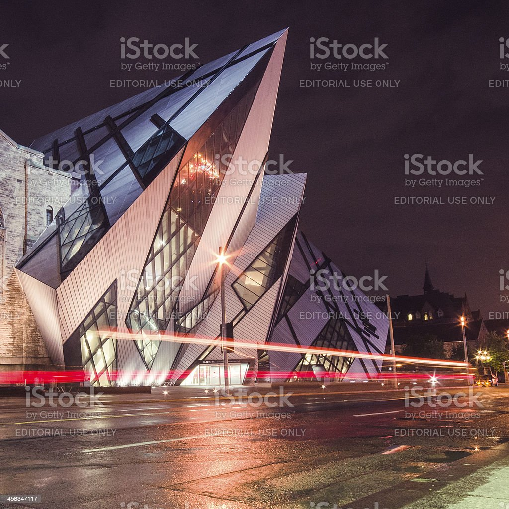 Libeskind's Crystal museum in toronto stock photo