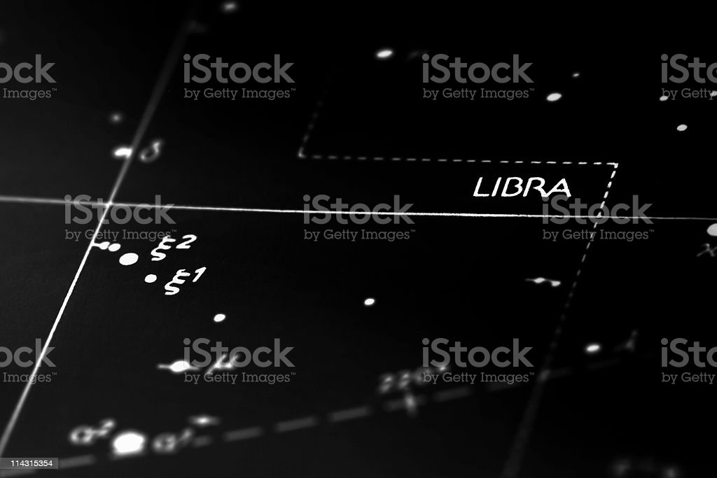 Libra constellation royalty-free stock photo