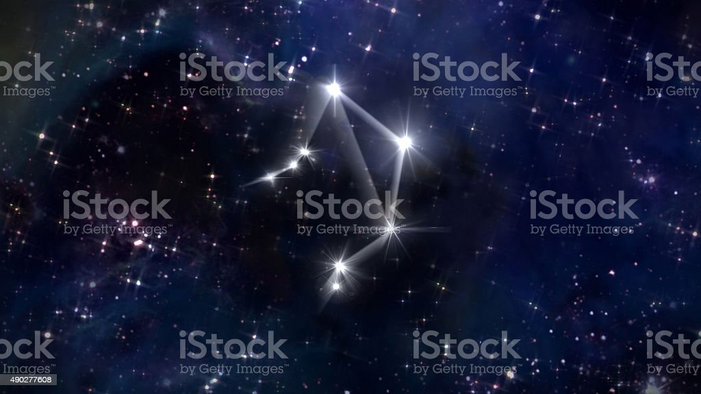 Libra Horoscope star white stock photo