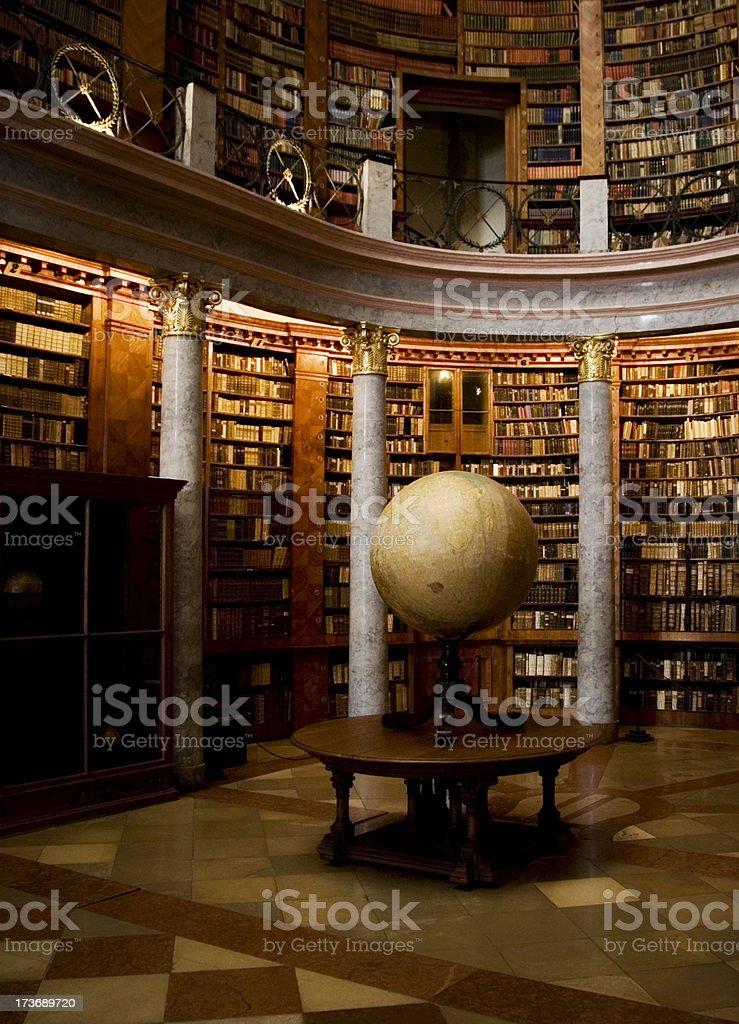 library - ancient globe stock photo