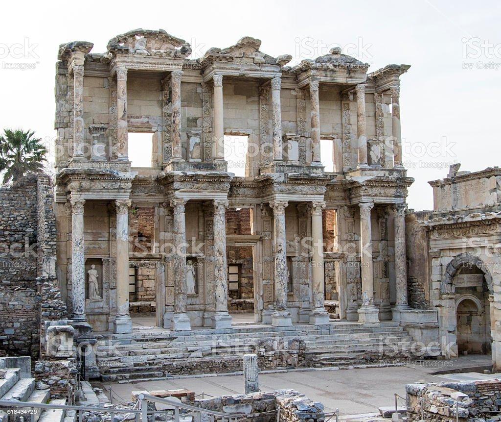 Library at Ephesus stock photo