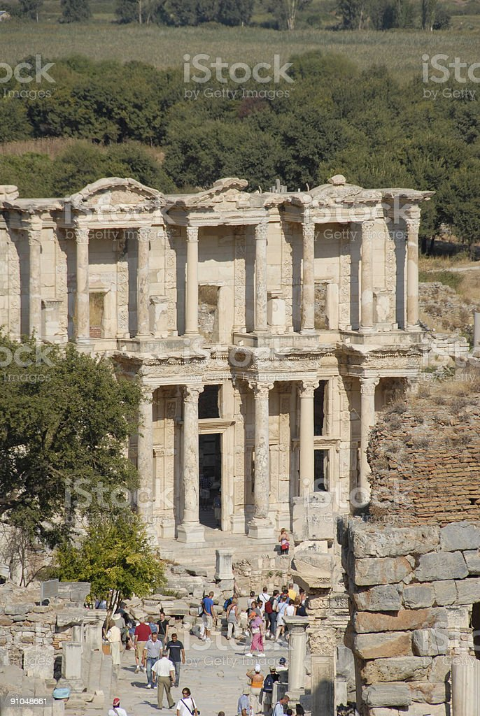 Library at Ephesus royalty-free stock photo