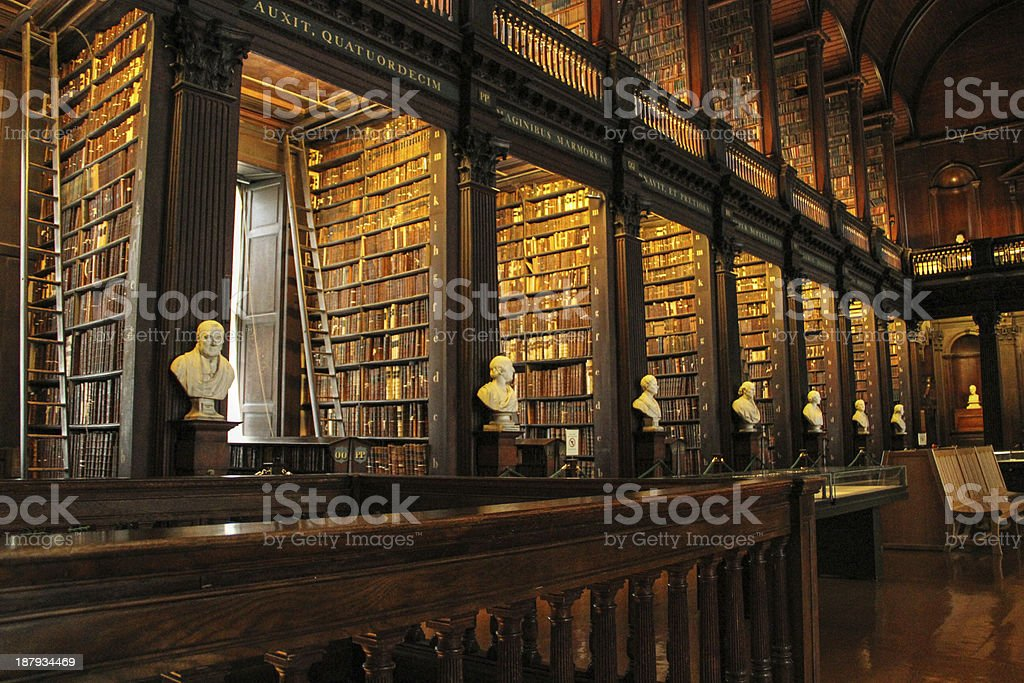 Library at Trinity College in Dublin stock photo