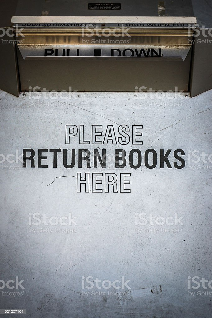 Library Book Return Box stock photo